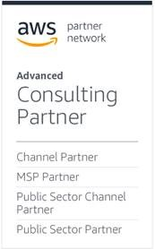 AWS Advanced COnsulting Partner, Channel Partner, MSP Partner, Public Sector Channel Partner, Public Sector Partner