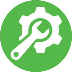 Gear and Wrench Icon