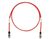 Panduit TX6A 10Gig patch cable - 11.6 m - red