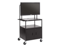 Bretford Basics Flat Panel Multimedia Cart FP42ULC-P5BK - cart