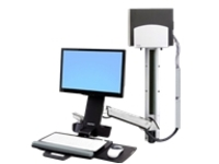 Ergotron StyleView Sit-Stand Combo System With Medium Silver CPU Holder - mounting kit (Lift and Pivot)