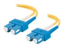 C2G 9m SC-SC 9/125 Duplex Single Mode OS2 Fiber Cable - LSZH - Yellow - 30ft - patch cable - 9 m - yellow