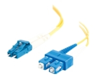 C2G 15m LC-SC 9/125 Duplex Single Mode OS2 Fiber Cable - Plenum CMP-Rated - Yellow - 50ft - patch cable - 15 m - yellow