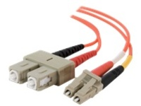 C2G 6m LC-SC 50/125 OM2 Duplex Multimode PVC Fiber Optic Cable (USA-Made) - Orange - patch cable - 6 m - orange