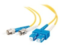 C2G 2m SC-ST 9/125 OS1 Duplex Single-Mode Fiber Optic Cable - Plenum CMP-Rated - Yellow - patch cable - 2 m - yellow
