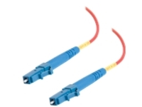 C2G 10m LC-LC 9/125 Simplex Single Mode OS2 Fiber Cable - Plenum CMP-Rated - Red - 33ft - patch cable - 10 m - red