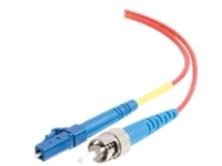C2G 5m LC-ST 9/125 Simplex Single Mode OS2 Fiber Cable - Plenum CMP-Rated - Red - 16ft - patch cable - 5 m - red