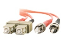 C2G SC-ST 62.5/125 OM1 Duplex Multimode Fiber Optic Cable (TAA Compliant) - patch cable - TAA Compliant - 5 m - orange