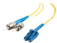 C2G 7m LC-ST 9/125 OS1 Duplex Single-Mode PVC Fiber Optic Cable (USA-Made) - Yellow - patch cable - 7 m - yellow