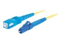 C2G 9m LC-SC 9/125 Simplex Single Mode OS2 Fiber Cable - Plenum CMP-Rated - Yellow - 30ft - patch cable - 9 m - yellow