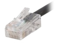 C2G Cat5e Non-Booted Plenum-Rated Unshielded (UTP) Network Patch Cable - patch cable - 7.6 m - black