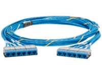 Panduit QuickNet Pre-Terminated Cable Assembly - network cable - 50.3 m - blue