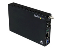 StarTech.com Gigabit Ethernet Fiber Media Converter with Open SFP Slot - Fiber to Ethernet Converter - Gigabit Ethernet…