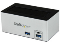 StarTech.com USB 3.0 SATA HDD Docking Station w/ Fast Charge USB Hub & UASP - storage controller - SATA 6Gb/s - USB 3.0