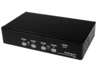 StarTech.com 4 Port Professional USB PS/2 KVM Switch - KVM switch - 4 ports