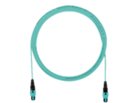 Panduit QuickNet PanMPO Round Interconnect Cable Assemblies - network cable - 5 m - aqua