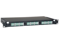 Tripp Lite 36-Port LC/LC Rackmount Fiber Enclosure Feed Through Patch Panel 1U - patch panel - 1U - 19""
