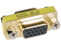 Tripp Lite Compact / Slimline Gold VGA Video Coupler Gender Changer HD15 F/F - VGA gender changer - HD-15 (F) to HD-15 (F)
