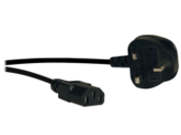 Tripp Lite 6ft Computer Power Cord UK Cable C13 to BS-1363 Plug 5A 6' - power cable - 1.8 m