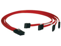 "Tripp Lite 18in Internal SAS Cable 4-Lane Mini-SAS SFF-8087 to 4x SATA 7pin 18"" - SATA / SAS cable - 46 cm"