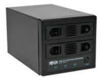 Tripp Lite USB 3.0 SuperSpeed 2 Bay SATA Hard Drive RAID Enclosure - hard drive array
