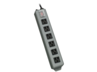 Tripp Lite Waber Power Strip 120V 5-15R 6 Outlet Metal 15' Cord 5-15P - power distribution strip