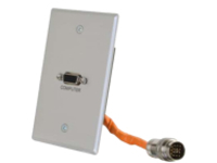 C2G RapidRun VGA (HD15) Single Gang Wall Plate - wall plate - VGA