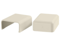 C2G 2 Pack Wiremold Uniduct 2800 Blank End Fitting - Ivory - cable raceway blank end fitting