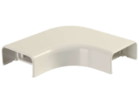 C2G Wiremold Uniduct 2900 Bend Radius Compliant Flat Elbow - Ivory - cable raceway elbow corner
