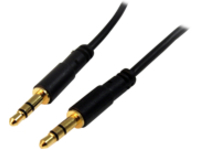 StarTech.com 15 ft. (4.6 m) 3.5mm Audio Cable - 3.5mm Slim Audio Cable - Gold Plated Connectors - Male/Male - Aux Cable…