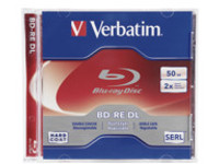 Verbatim - BD-RE DL x 1 - 50 GB - storage media