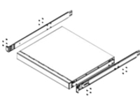 Lenovo Adjustable/Recessed 4-Post rack rail kit - 2U