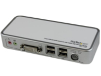 StarTech.com 2 Port Compact USB DVI KVM with Cables and Audio Switching - KVM / audio / USB switch - 2 x KVM / audio / …