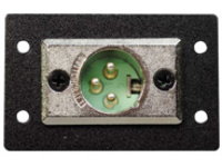 C2G Wiremold Audio/Video Interface Plates (AVIP) XLR 3-pin Male to Solder Cups - faceplate