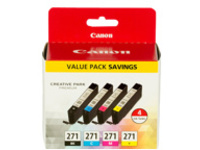 Canon CLI-271 Value Pack - 4-pack - black, yellow, cyan, magenta - original - ink tank