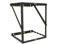 "Tripp Lite 8U 12U 22U 2 Post Open Frame Rack Cabinet Expandable 11.5"" Depth Wall Mount rack"