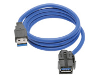 Tripp Lite 3ft USB 3.0 Superspeed Keystone Jack Type-A Extension Cable M/F 3' - USB extension cable - 91 cm