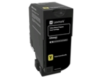 Lexmark - yellow - original - toner cartridge - LCCP, LRP