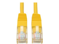 Tripp Lite 10ft Cat5e / Cat5 350MHz Molded Patch Cable RJ45 M/M Yellow 10' - patch cable - 3 m - yellow