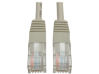 Tripp Lite 14ft Cat5e / Cat5 350MHz Molded Patch Cable RJ45 M/M Gray 14' - patch cable - 4.3 m - gray