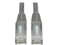 Tripp Lite 6ft Cat6 Gigabit Snagless Molded Patch Cable RJ45 M/M Gray 6' - patch cable - 1.8 m - gray