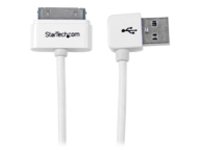 StarTech.com Apple 30-pin Dock to Left Angle USB Cable - charging / data cable - 1 m