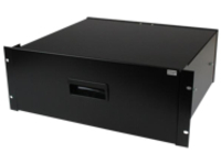 StarTech.com 4U Black Steel Storage Drawer for 19in Racks and Cabinets - Rack storage drawer - 4U - 4UDRAWER rack stora…