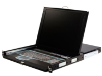 "StarTech.com 1U 17"" Rackmount LCD Console with Integrated 16 Port IP KVM Switch (CABCONS1716I) - KVM console - 17"""