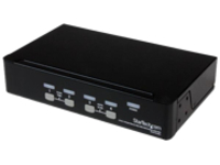 StarTech.com 4-Port USB KVM Swith with OSD - TAA Compliant - 1U Rack Mountable VGA KVM Switch (SV431DUSBU) - KVM switch…