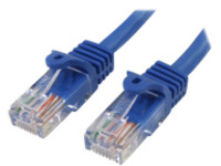 StarTech.com 1m Blue Cat5e / Cat 5 Snagless Patch Cable - patch cable - 1 m - blue