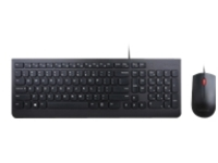 Lenovo Essential Wired Combo - keyboard and mouse set - French Canadian