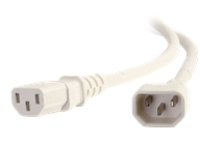 C2G 4ft 18AWG Power Cord (IEC320C14 to IEC320C13) - White - power cable - TAA Compliant - 1.22 m