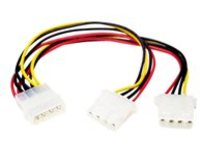 StarTech.com LP4 to 2x LP4 Power Y Splitter Cable M/F - LP4 Splitter - Molex Y Splitter - Molex Splitter (PYO2L) - powe…