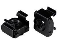StarTech.com M5 Cage Nuts - 100 Pack, Black - M5 Mounting Cage Nuts for Server Rack & Cabinet (CABCAGENUT2B) cage nuts